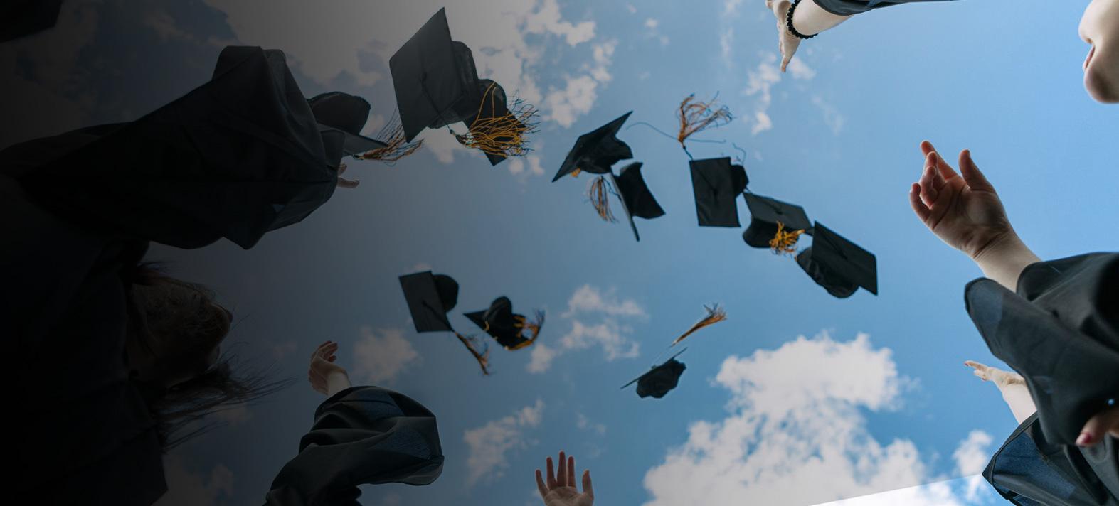radość zzakończenia edukacji